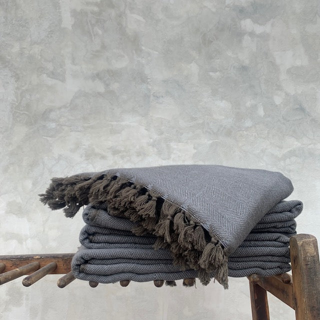 London Wool Throw by Home & Loft - Upstate MN