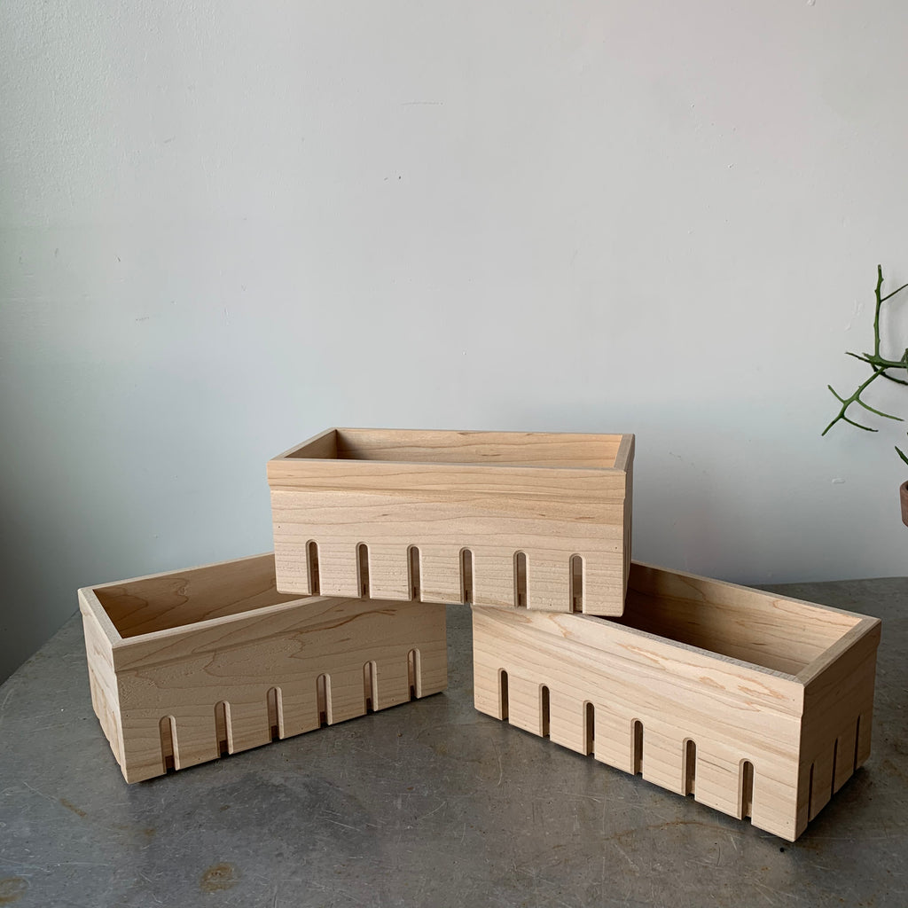Long Wooden Berry Box by WAAM Industries