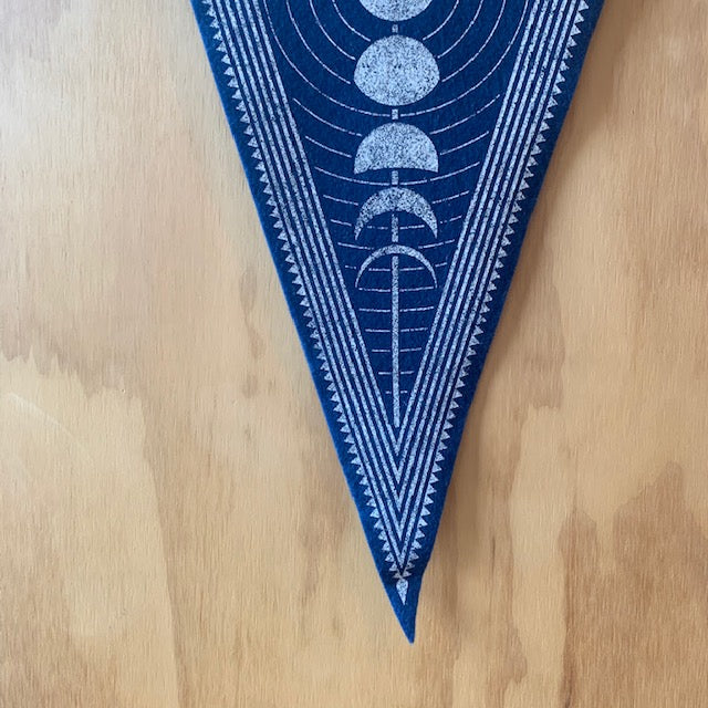 Lunar Phase Felt Flag by The Rise and Fall - Upstate MN