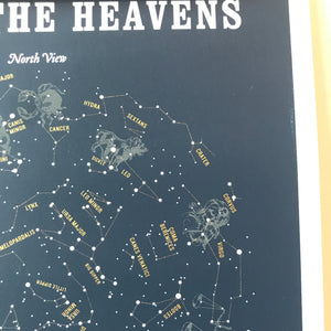 Map of the Heavens Print by Margins - Upstate MN