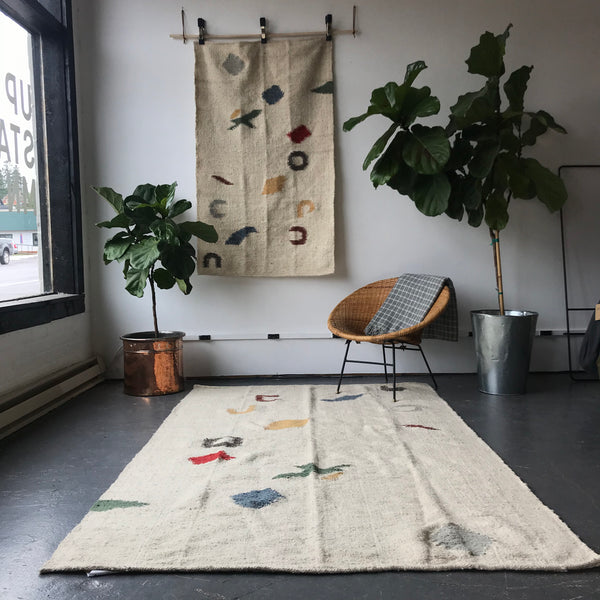 Lake Map Handmade Wool Rug by Meso Goods - Upstate MN