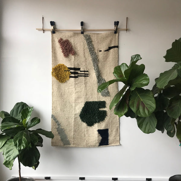 The Depths Handmade Wool Rug by Meso Goods