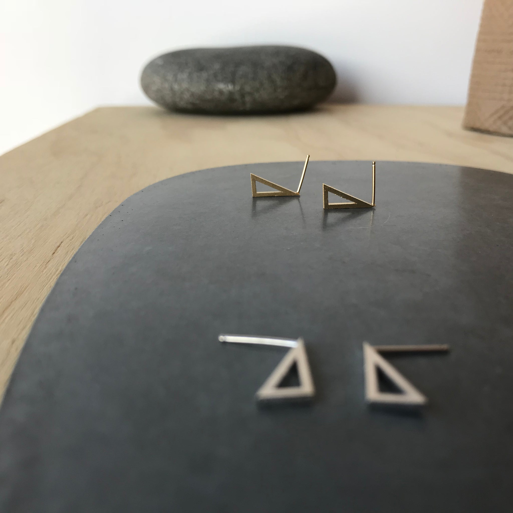 Mini Point Stud Earrings by Molly M