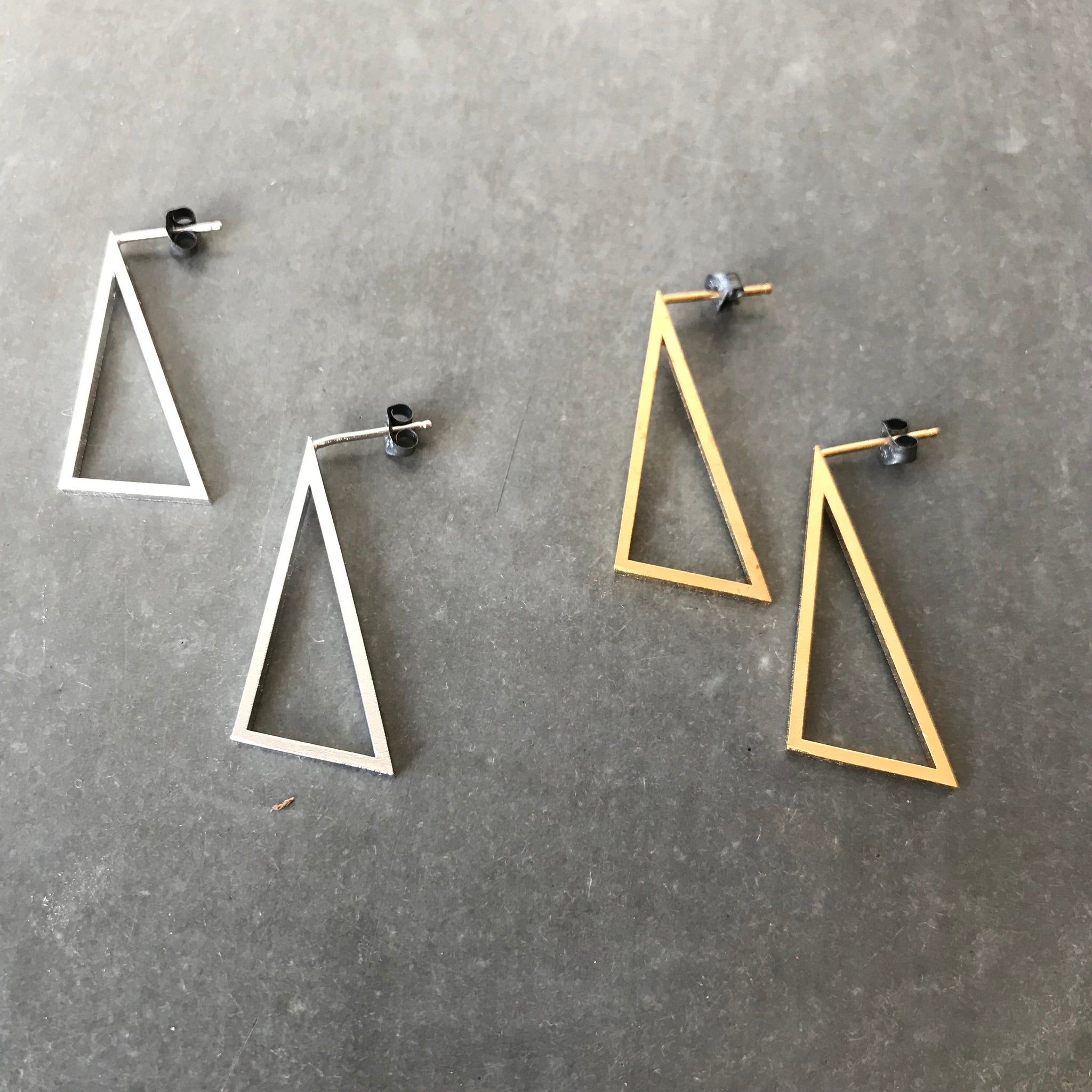 Point Stud Earrings by Molly M
