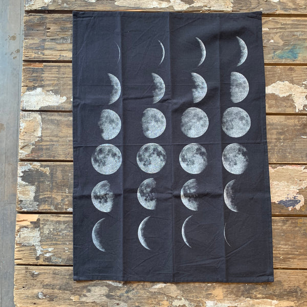 Moon Phases Kitchen Towel by The Rise and Fall