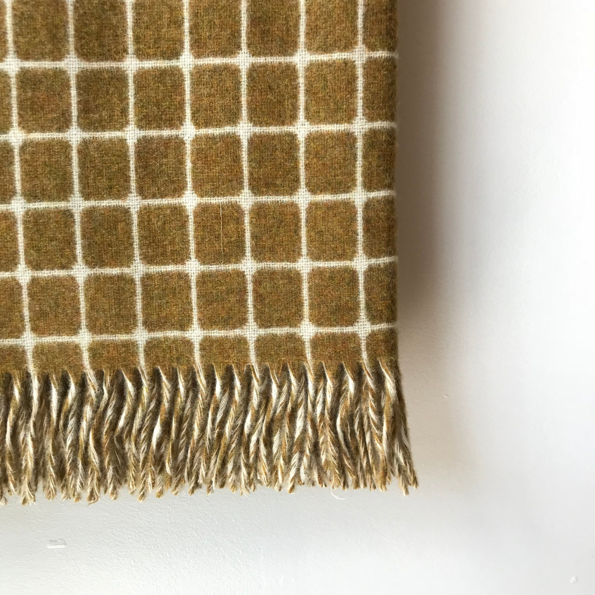 Athens Gold Wool Throw by Moons UK - Upstate MN