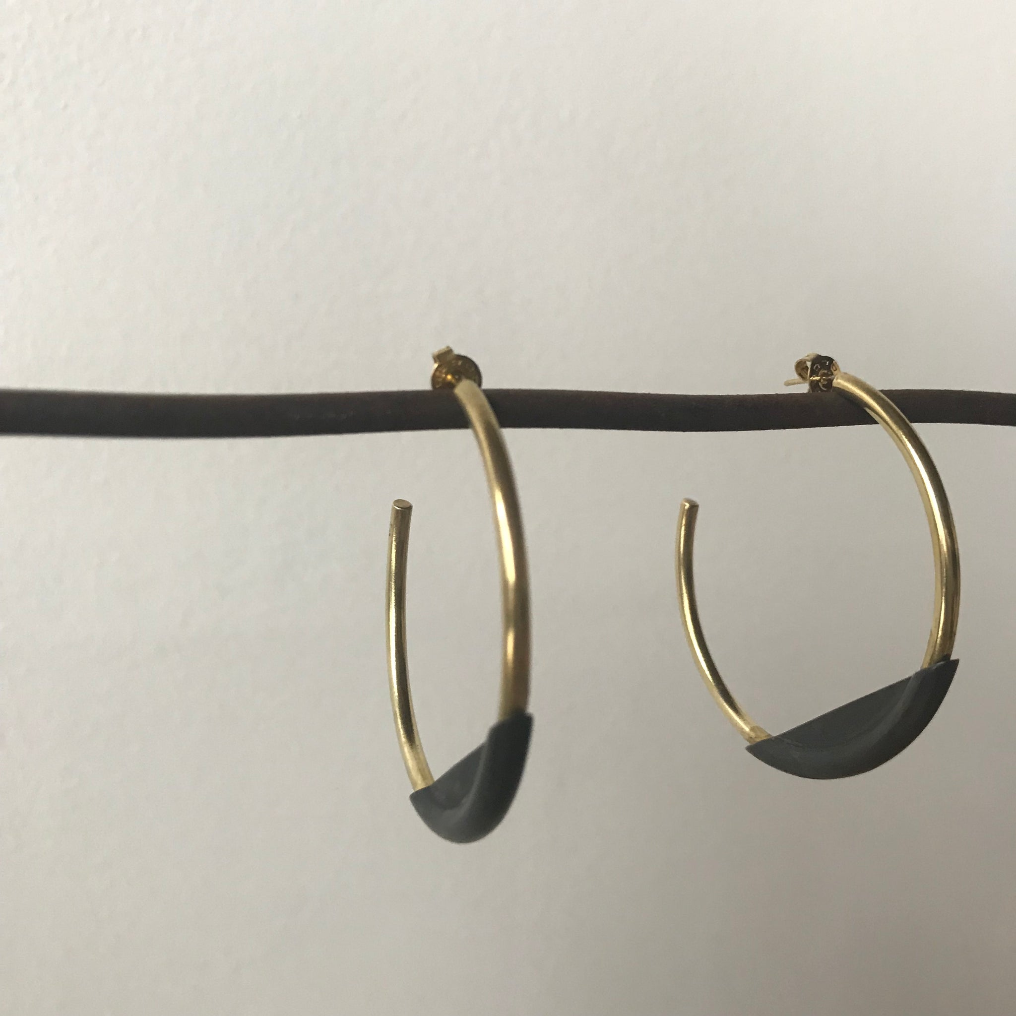 Earth and Sky Hoop Earrings by Mulxiply - Upstate MN