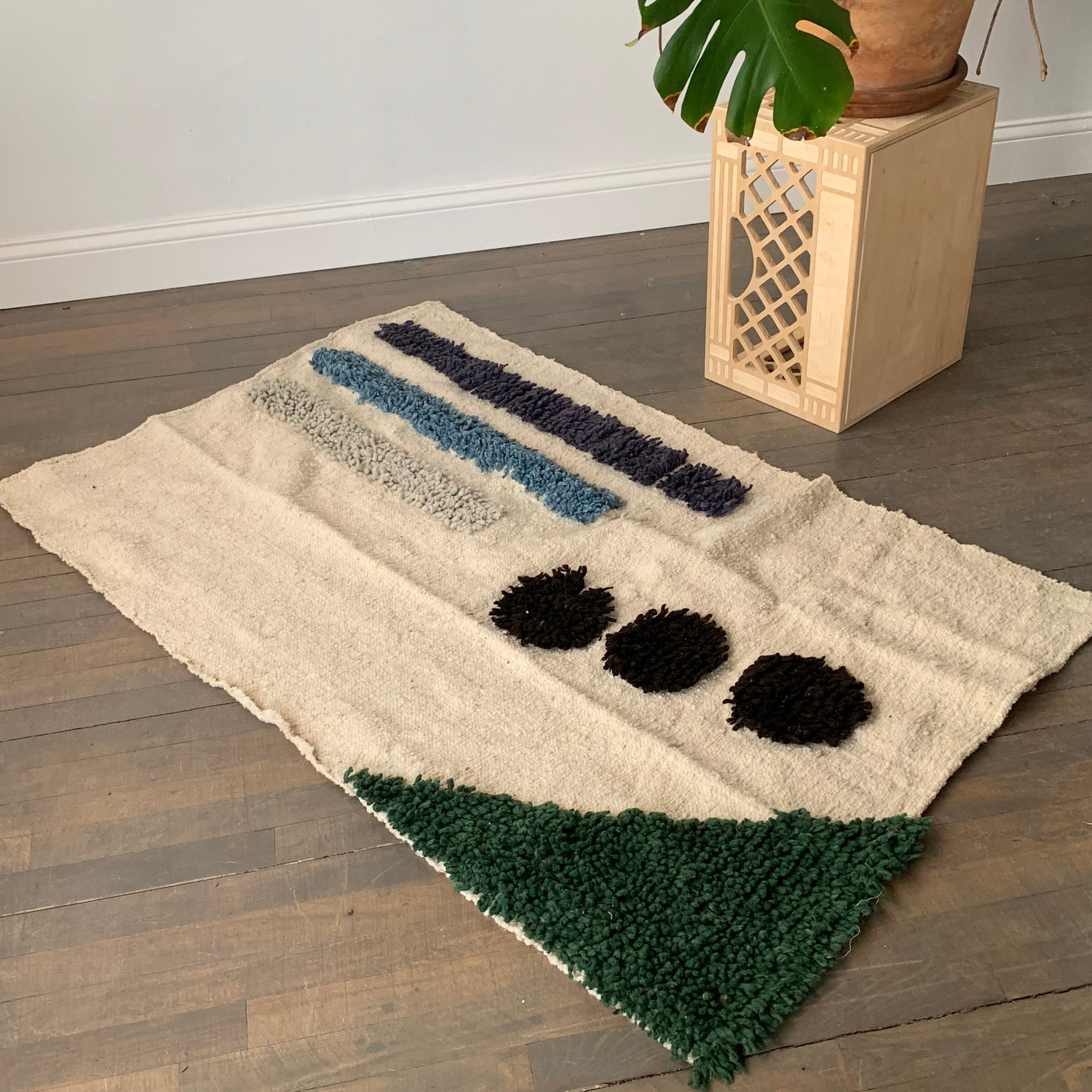 Notes Handmade Wool Rug by Meso Goods
