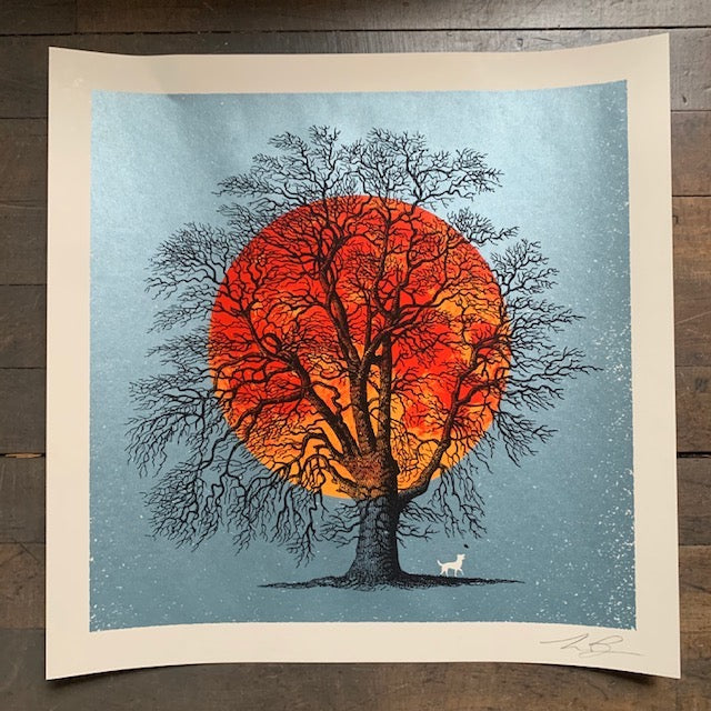 One Last Leaf Screenprint by Aesthetic Apparatus - Upstate MN