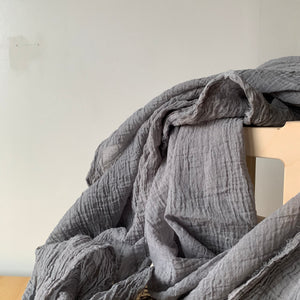 Organic Cotton Scarf in Basalt by Scarfshop