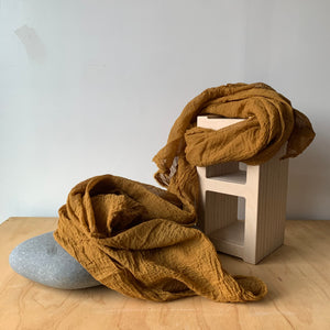 Organic Cotton Scarf in Bourbon by Scarfshop