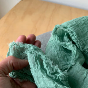 Organic Cotton Scarf in Jade by Scarfshop