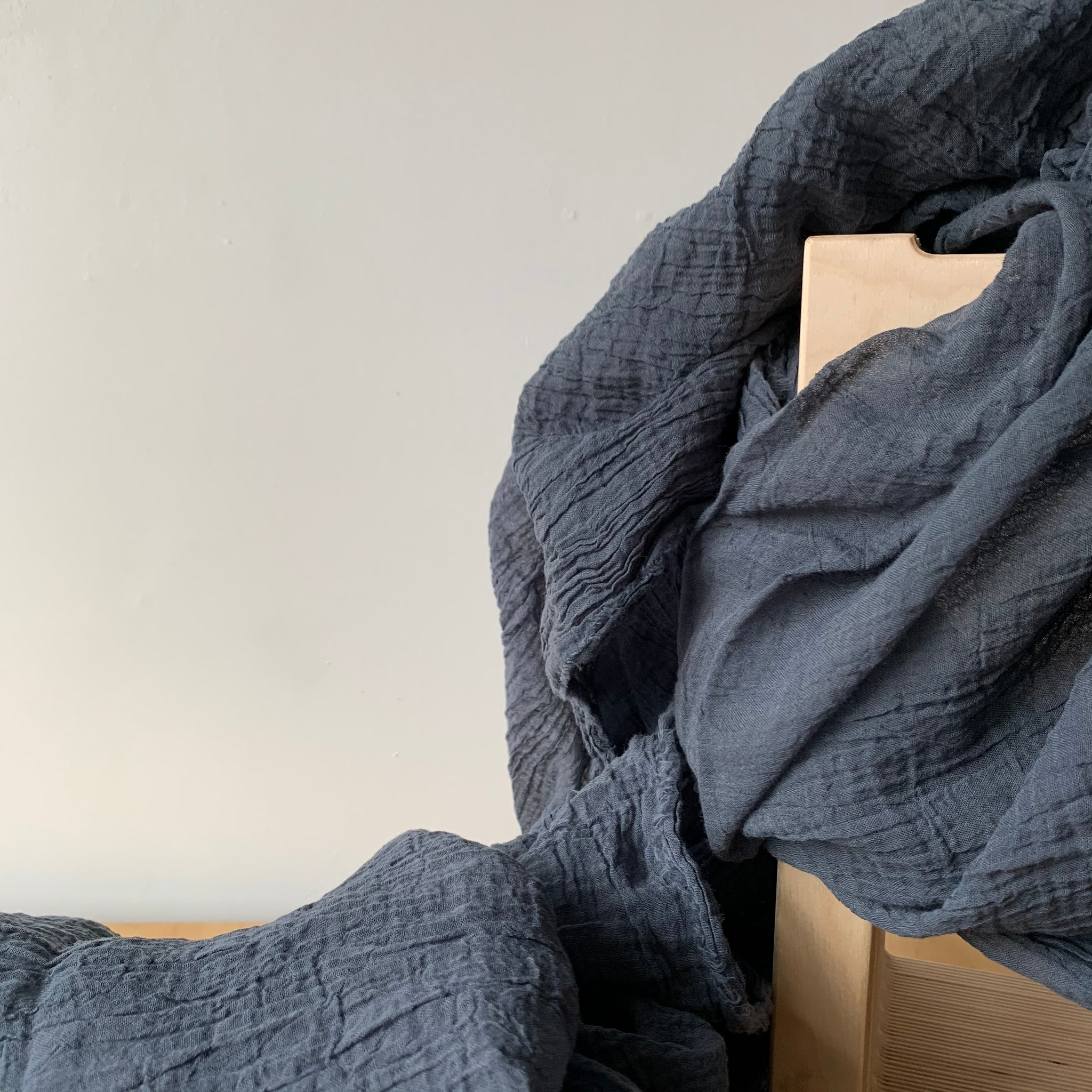 Organic Cotton Scarf in Smoke by Scarfshop