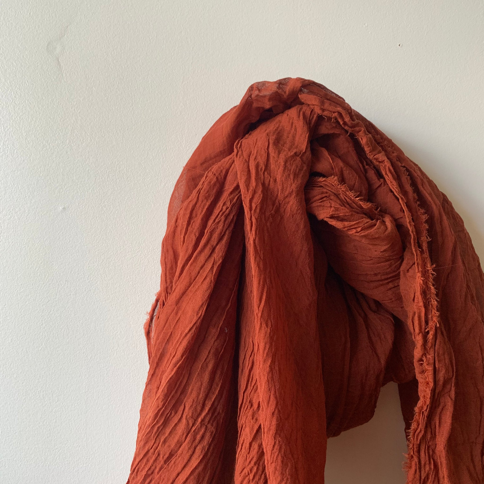 Organic Cotton Scarf in Rust by Scarfshop - Upstate MN