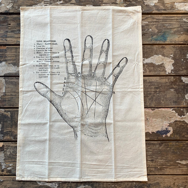 Palmistry Kitchen Towel by The Rise and Fall