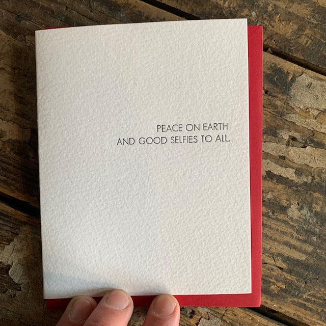 Peace on Earth and Selfies Letterpress Greeting Card Boxed Set by Sapling Press - Upstate MN