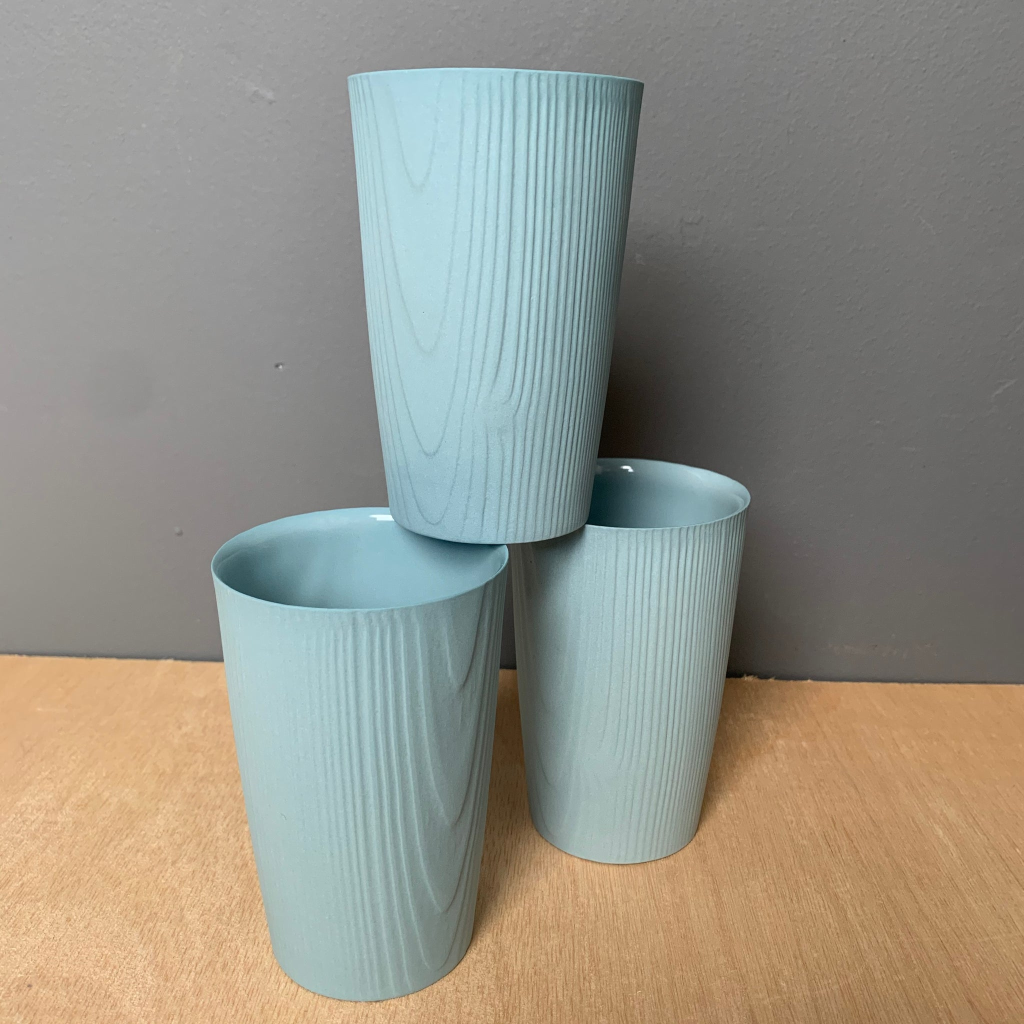 Porcelain Woodgrain Cup in Blue by Edgewood Made - Upstate MN