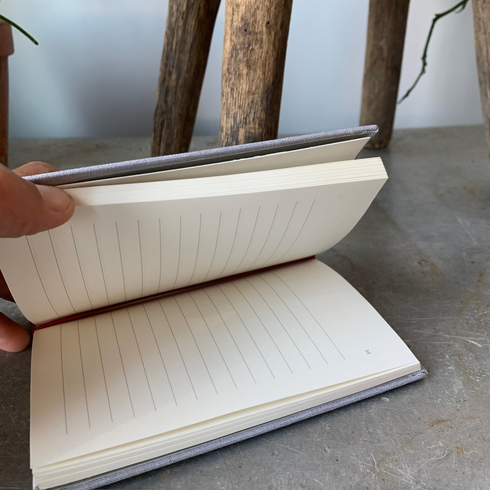 Prue Small Cloth Hardbound Notebook By Mōglea