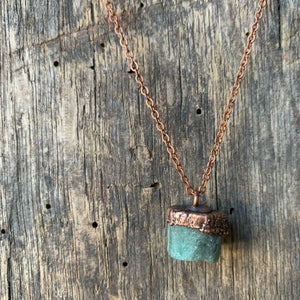 "Raw Emerald on 18"" Copper Necklace by Hawkhouse"