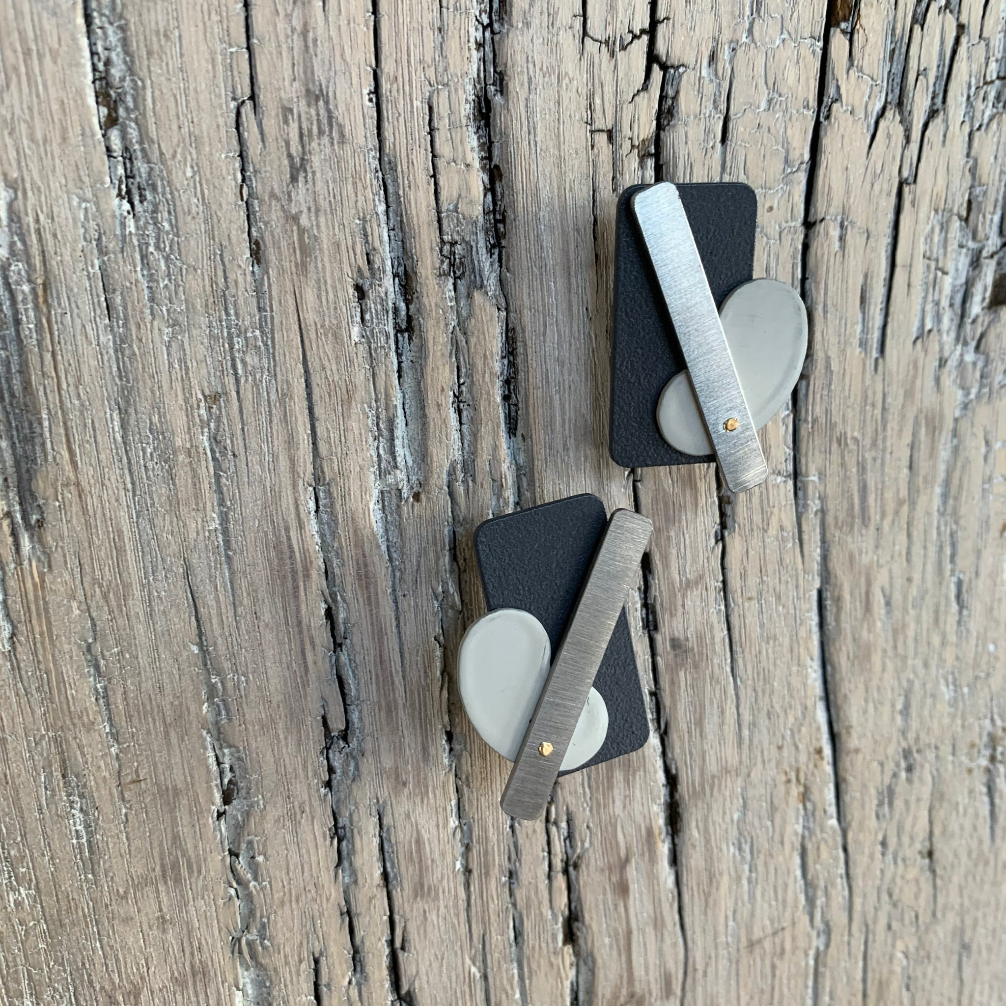Rectangle Pablo Stainless Steel Earrings by Days of August - Upstate MN