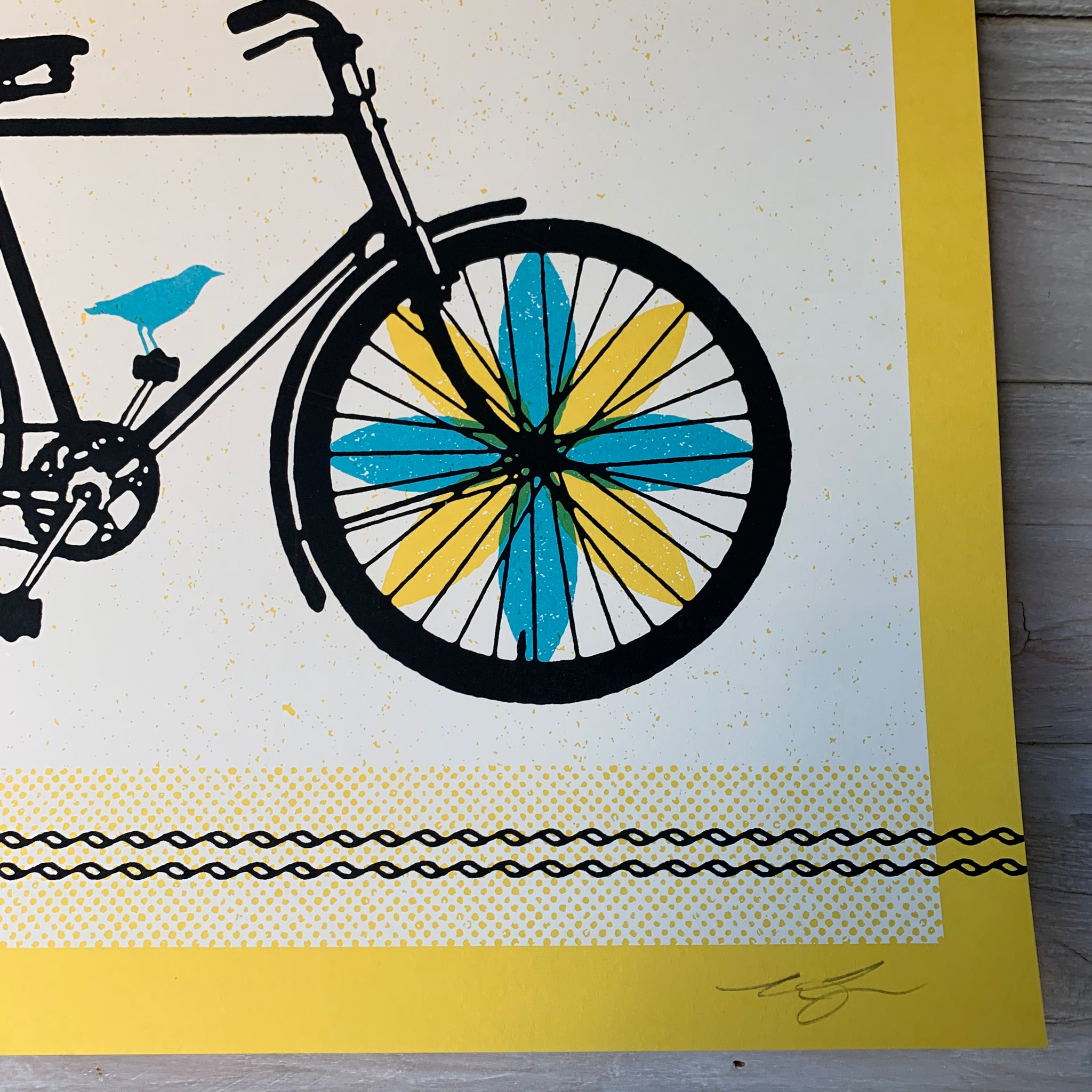 SPRING RIDE Screenprint by Aesthetic Apparatus