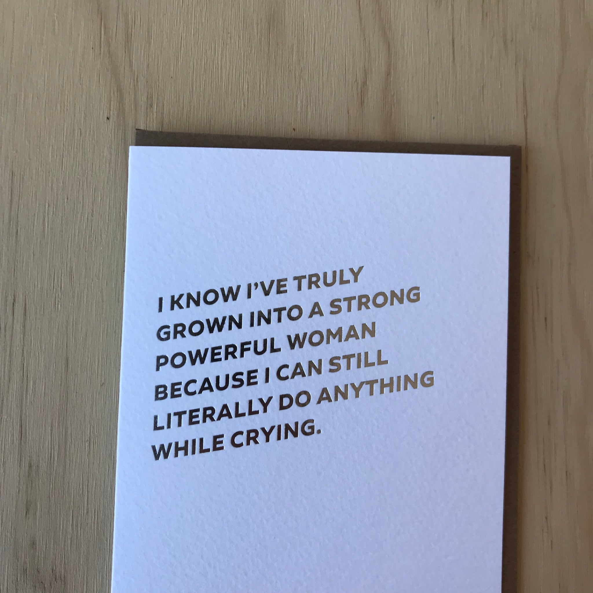 Powerful Woman Letterpress Greeting Card by Sapling Press