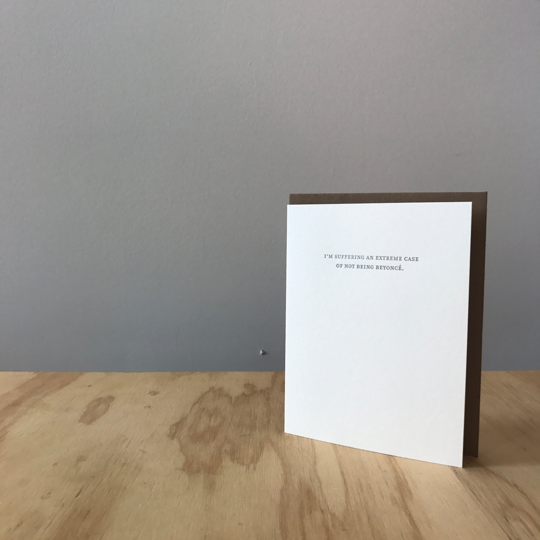 Beyonce Letterpress Greeting Card by Sapling Press - Upstate MN
