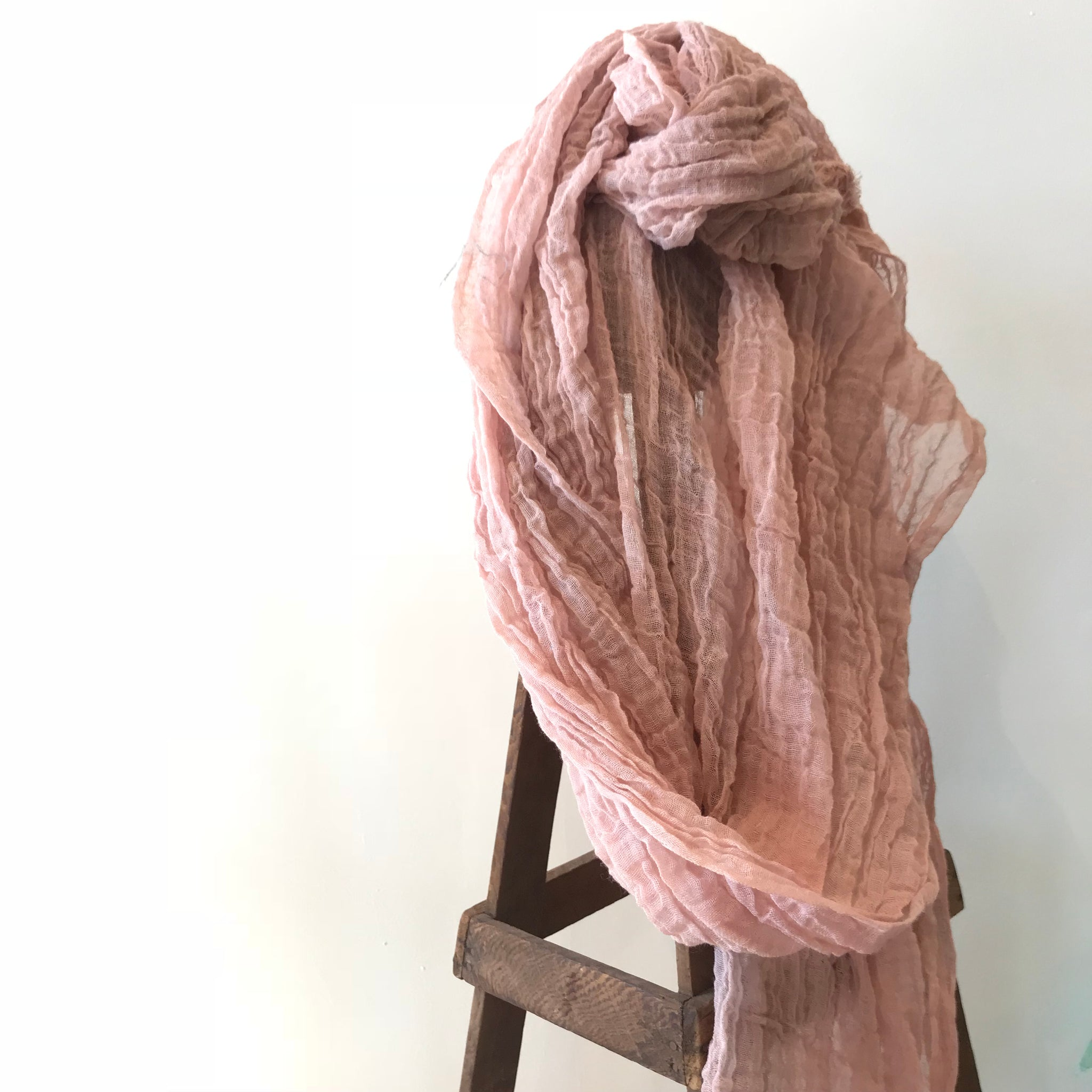 Cotton Scarf in Pink Clay by Scarfshop - Upstate MN