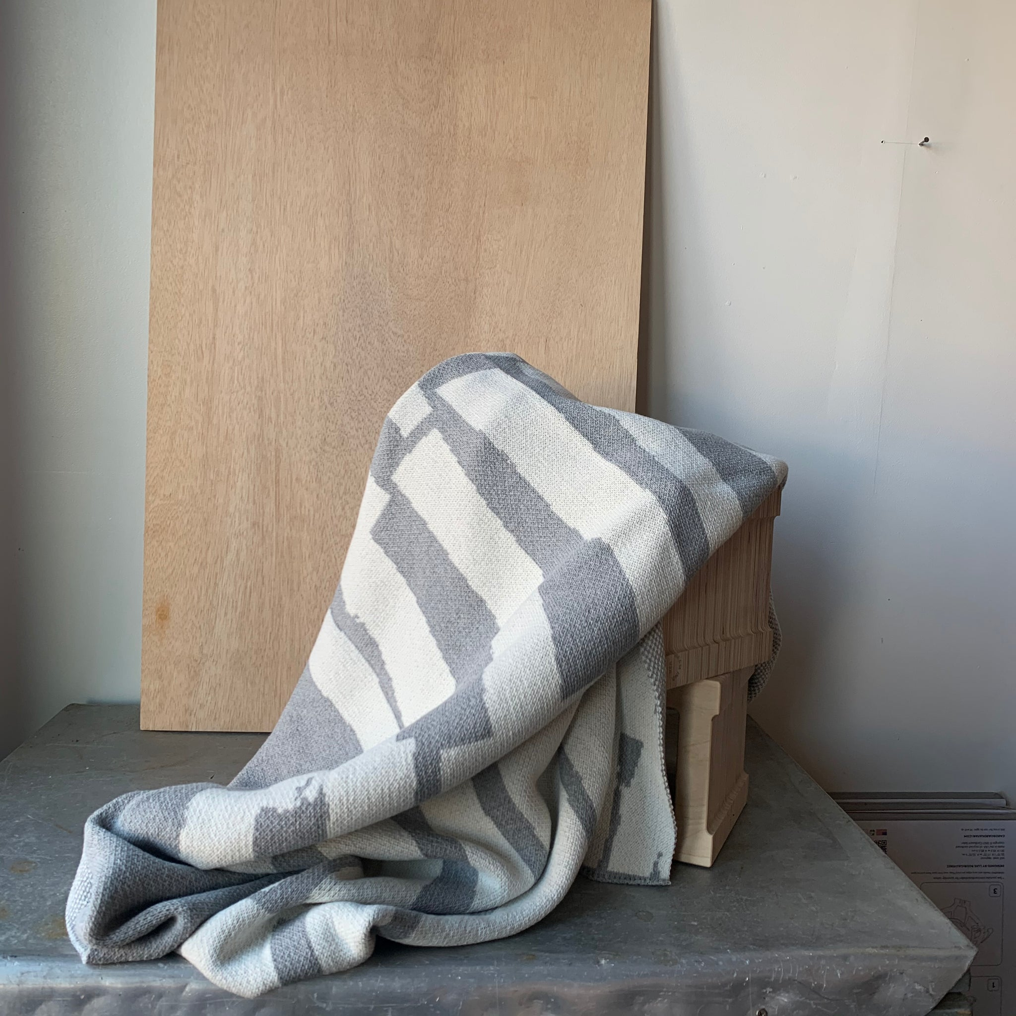 Scout Eco Throw in Grey by Suzy Pilgrim Waters for In2Green