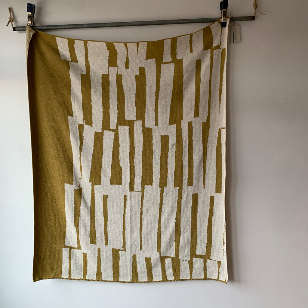 Scout Eco Throw in Moss by Suzy Pilgrim Waters for In2Green
