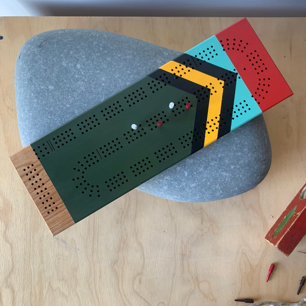 Scout Handmade Artisan Cribbage Board by Sanborn Canoe