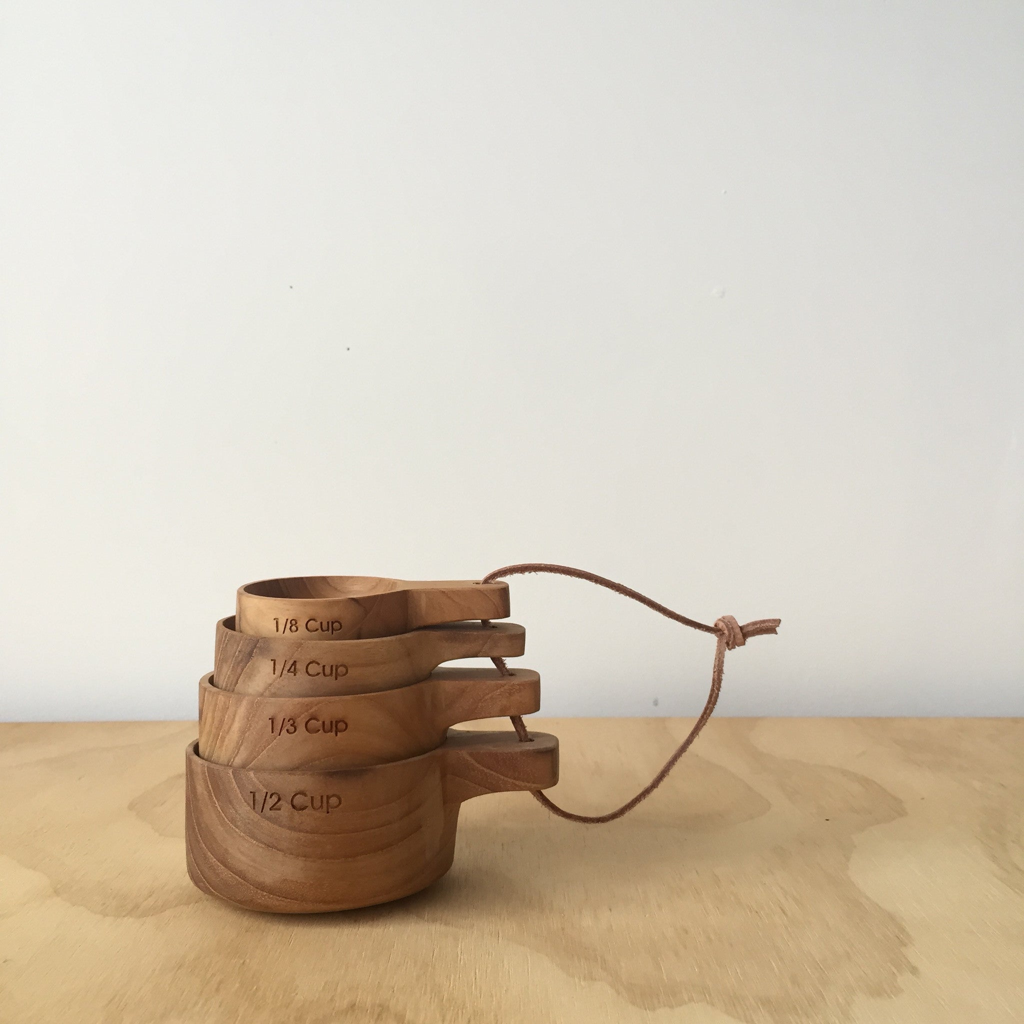 Teak Measuring Cups - Upstate MN