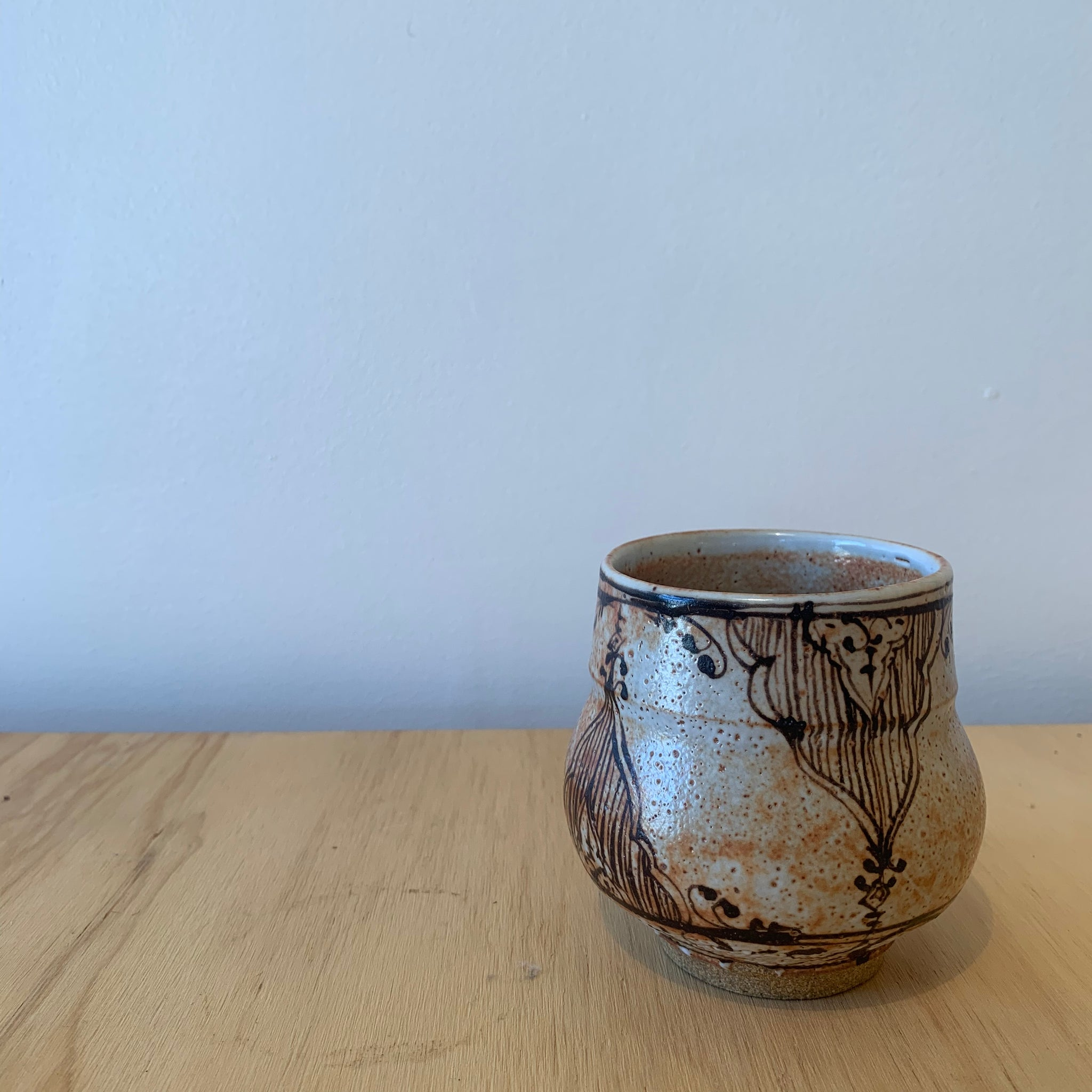 Shino Glazed Cup by David Swenson