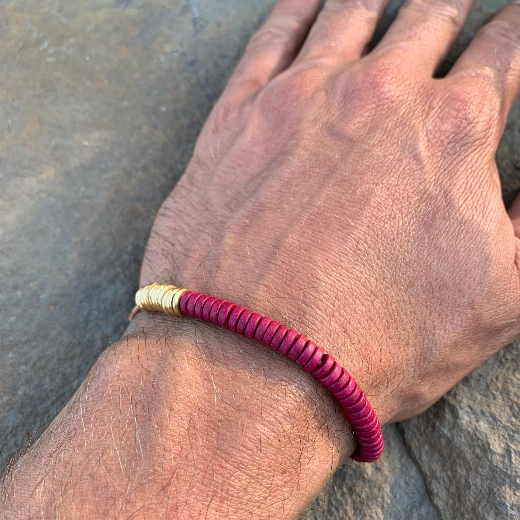 Shirin Bracelet in Grenadine with Brass by Son of a Sailor