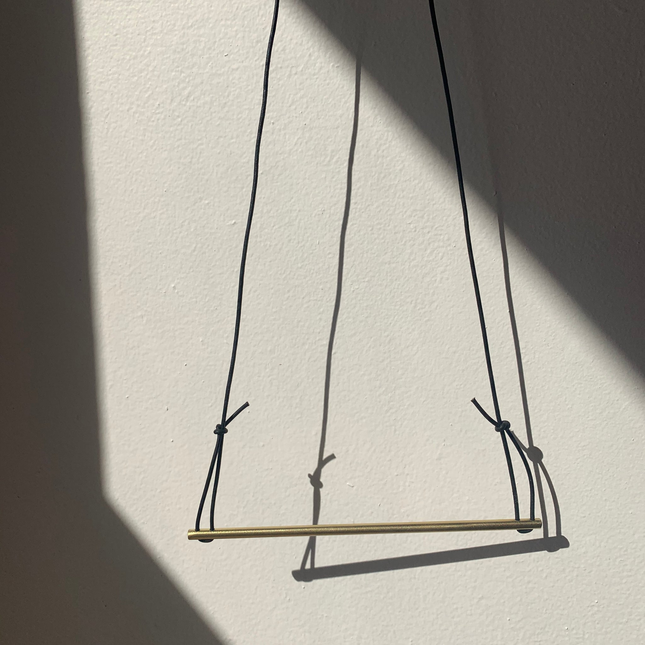 Simple Brass Bar Necklace by Eric Silva