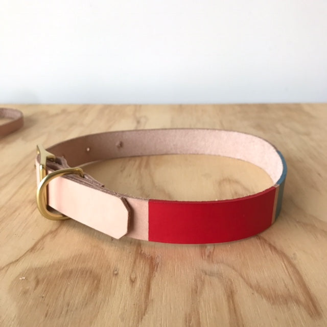 Willis Collar Hand-Painted in Red & Blue by Son of a Sailor