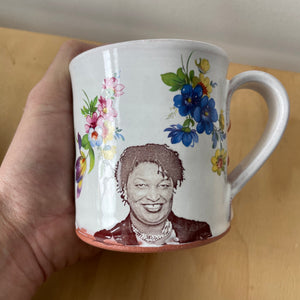 Stacey Abrams Decorated Ceramic Mug by Justin Rothshank