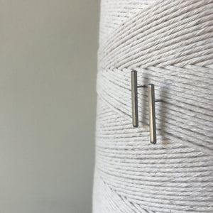 Matchstick Stainless Steel Profile Stud Earrings by Days of August - Upstate MN