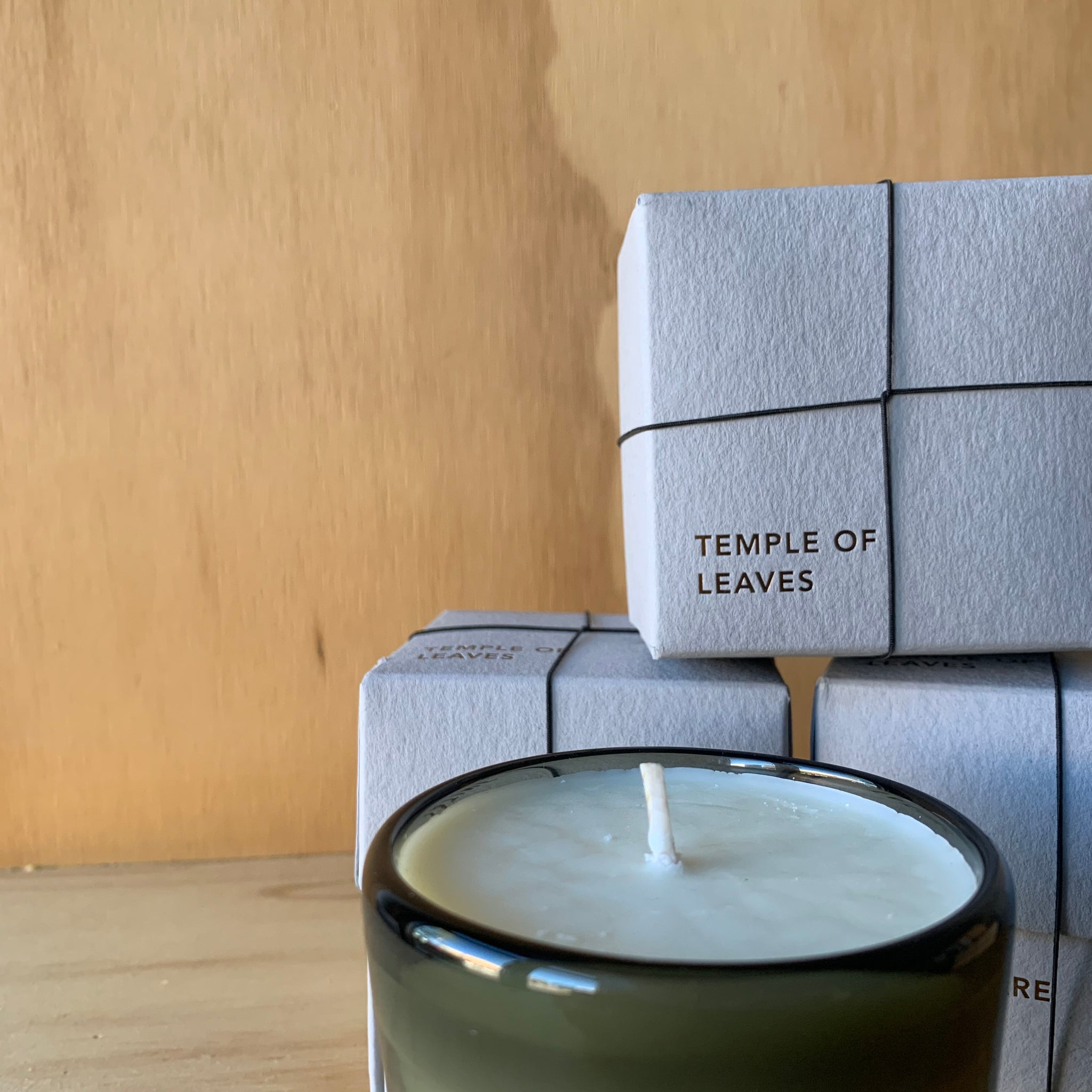 Stars are Fire Temple of Leaves Hand-Poured Candle by Tatine