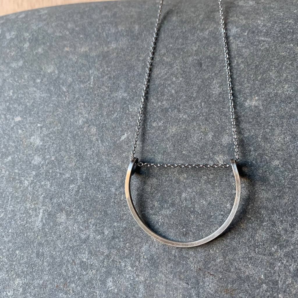 Sterling Silver Short Loop Necklace by Jovy Rockey