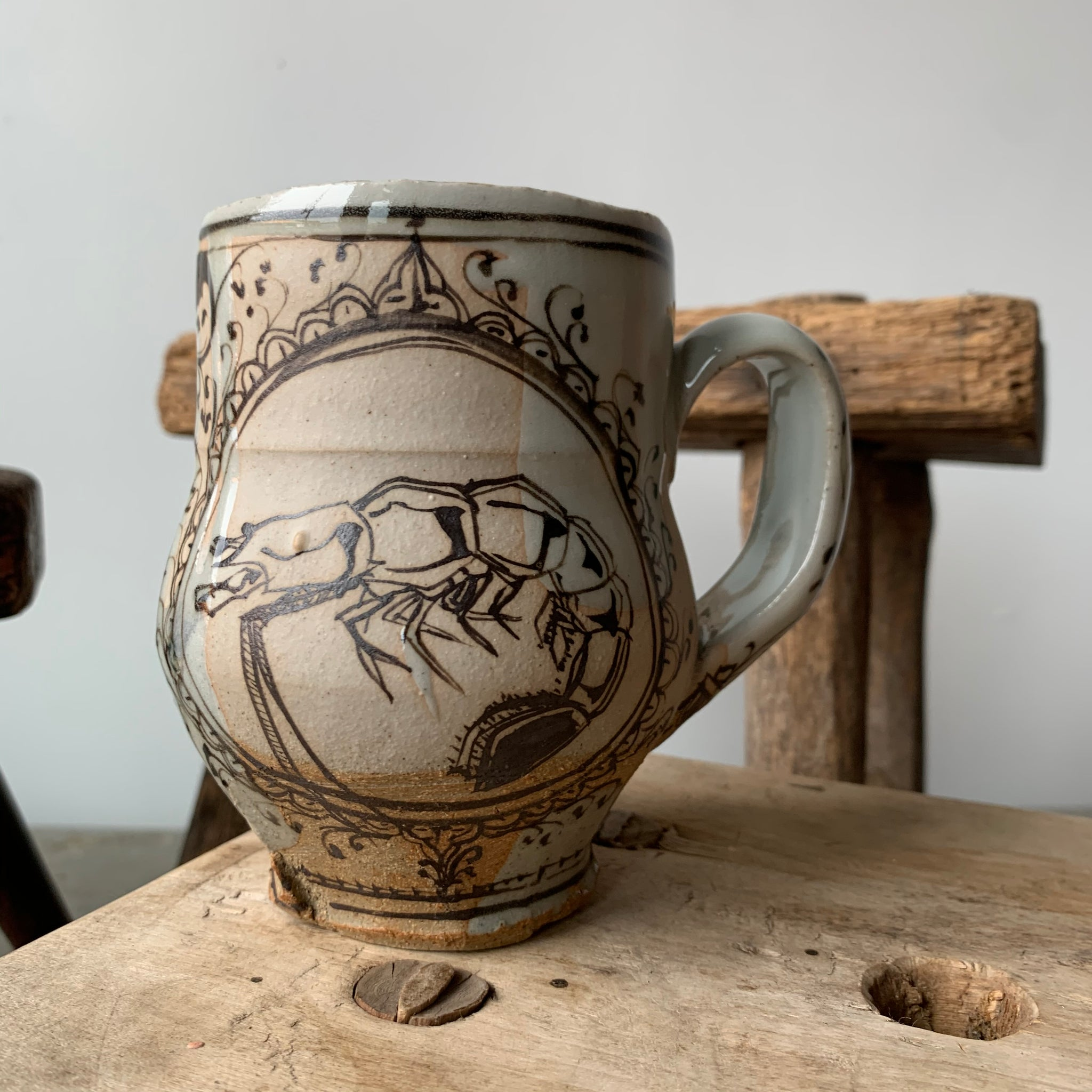Stoneware Animal Mug 5 by David Swenson