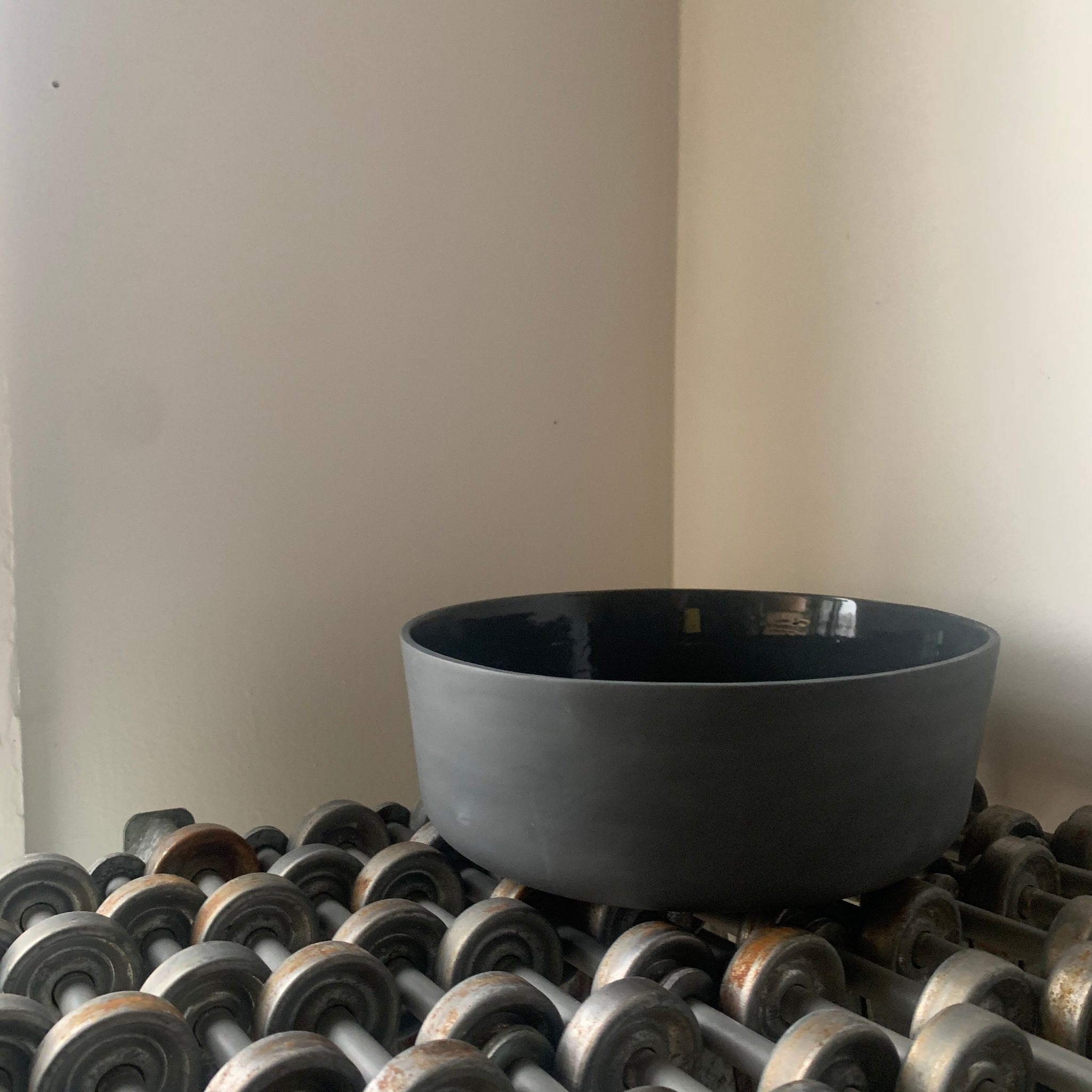 Straight Side Porcelain Bowls in Black by Edgewood Made - Upstate MN