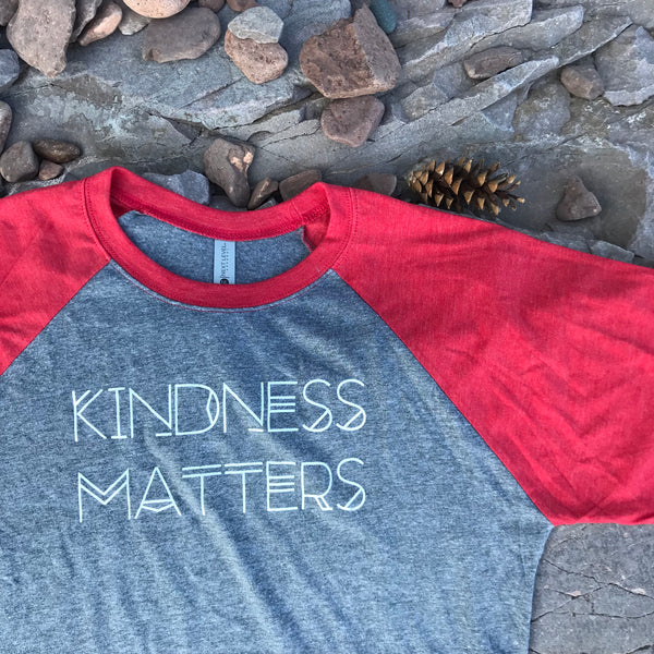 KINDNESS MATTERS 3/4 Sleeve Adult T-shirt - Upstate MN