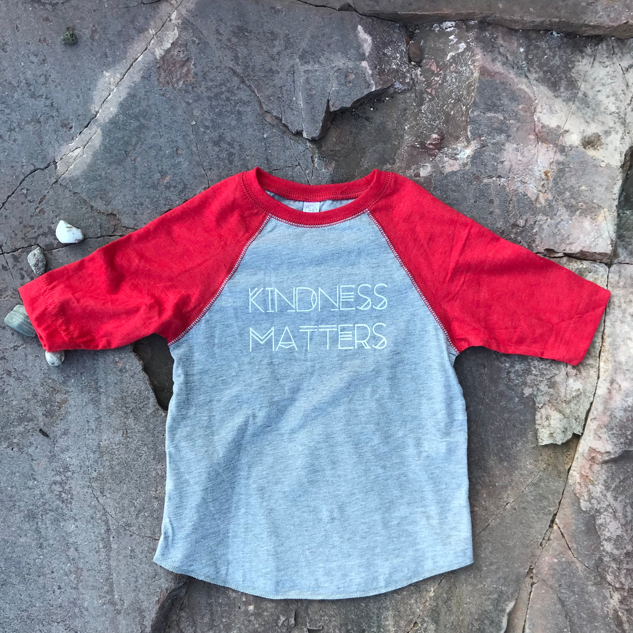 KINDNESS MATTERS 3/4 Sleeve Toddler T-shirt