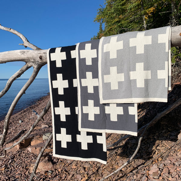 Swiss Cross Eco Throw by Jill Malek for In2Green