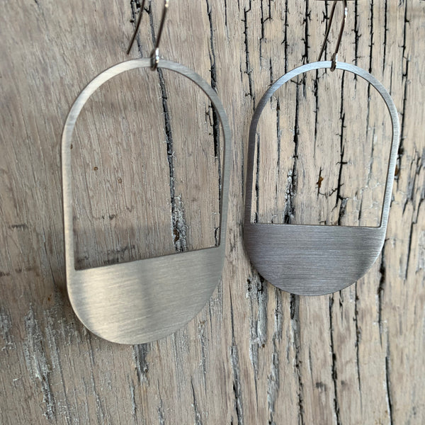 The Capsule Stainless Steel Hook Earrings by Days of August - Upstate MN