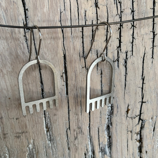 The Dangle Tassel Stainless Steel Hook Earrings by Days of August - Upstate MN