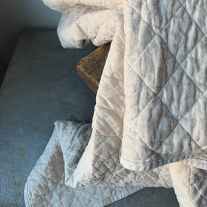 Quilted Canvas Throw by Utility Canvas