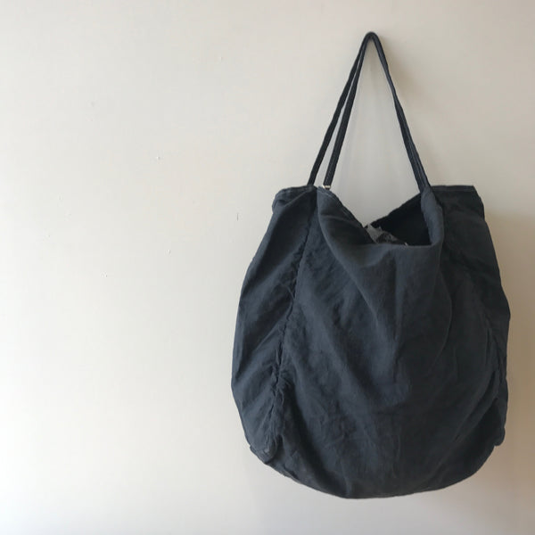 Charcoal Garment Dyed Errand Bag by Utility Canvas