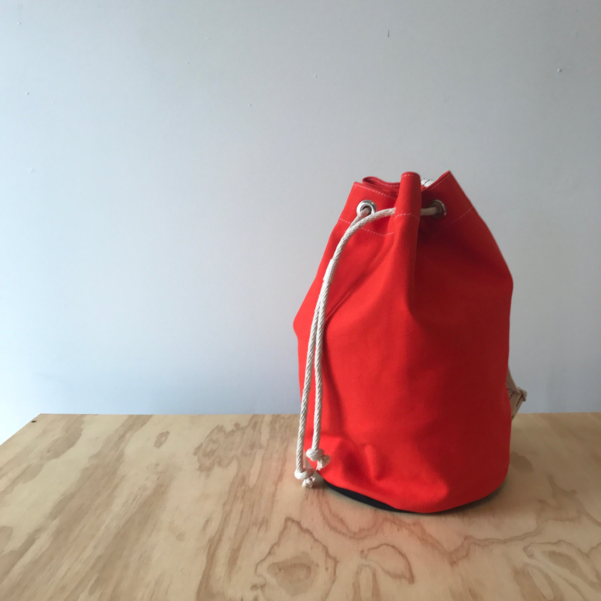 Orange Single Strap Duffle Bag by Utility Canvas